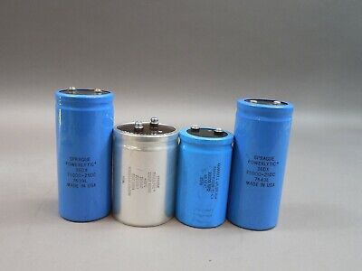Mix Lot Of 4 Sprague 36dx Electrolytic Can Capacitors