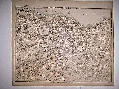 1838 SDUK: Map of the Environs of Edinburgh