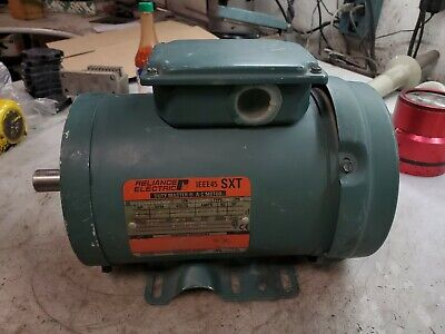Reliance 2 Hp Electric Ac Motor 230460 Vac Fk145t Frame 3450 Rpm 3 Phase