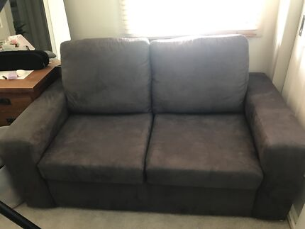 2 seater suede lounge