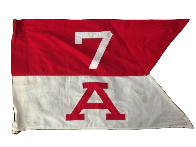 "WWII Jeep Guidon, Co ""A"", 7th Cavalry Regiment; C/O Jeep Antenna Flag 1945-1949"