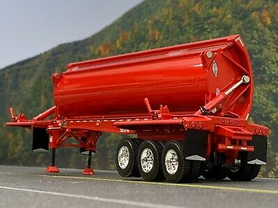 1/64 DCP RED SMITHCO TRI-AXLE SIDE DUMP TRAILER 3