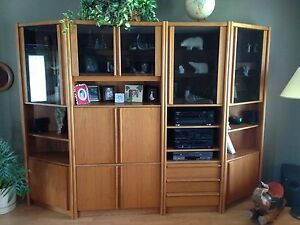 Teak Wallunit - 4 pieces
