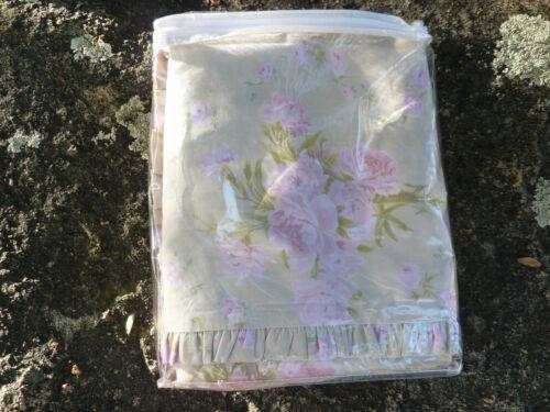 "Annette Tatum House Inc Trellis Rose Khaki Duvet (Q) Rare 1/2"" Folded Ruffle HTF"