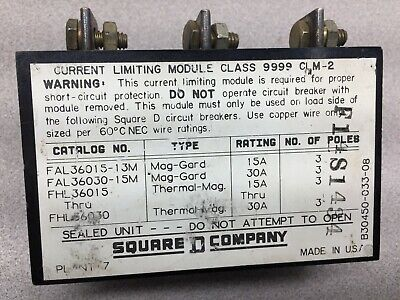 Used Square D 3pole Current Limiting Module 9999clm-2