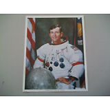 John Young 8X10 Autographed ( AUTOPEN ) NASA Photo in Apollo Suit