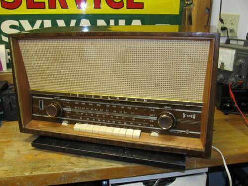 Vintage Telefunken Concertino 5384 W HI-FI Stereo Tube Table Radio