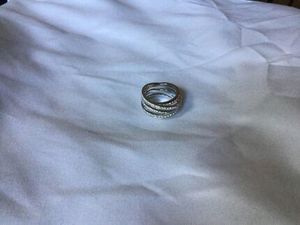 Spiral Swarovski Ring