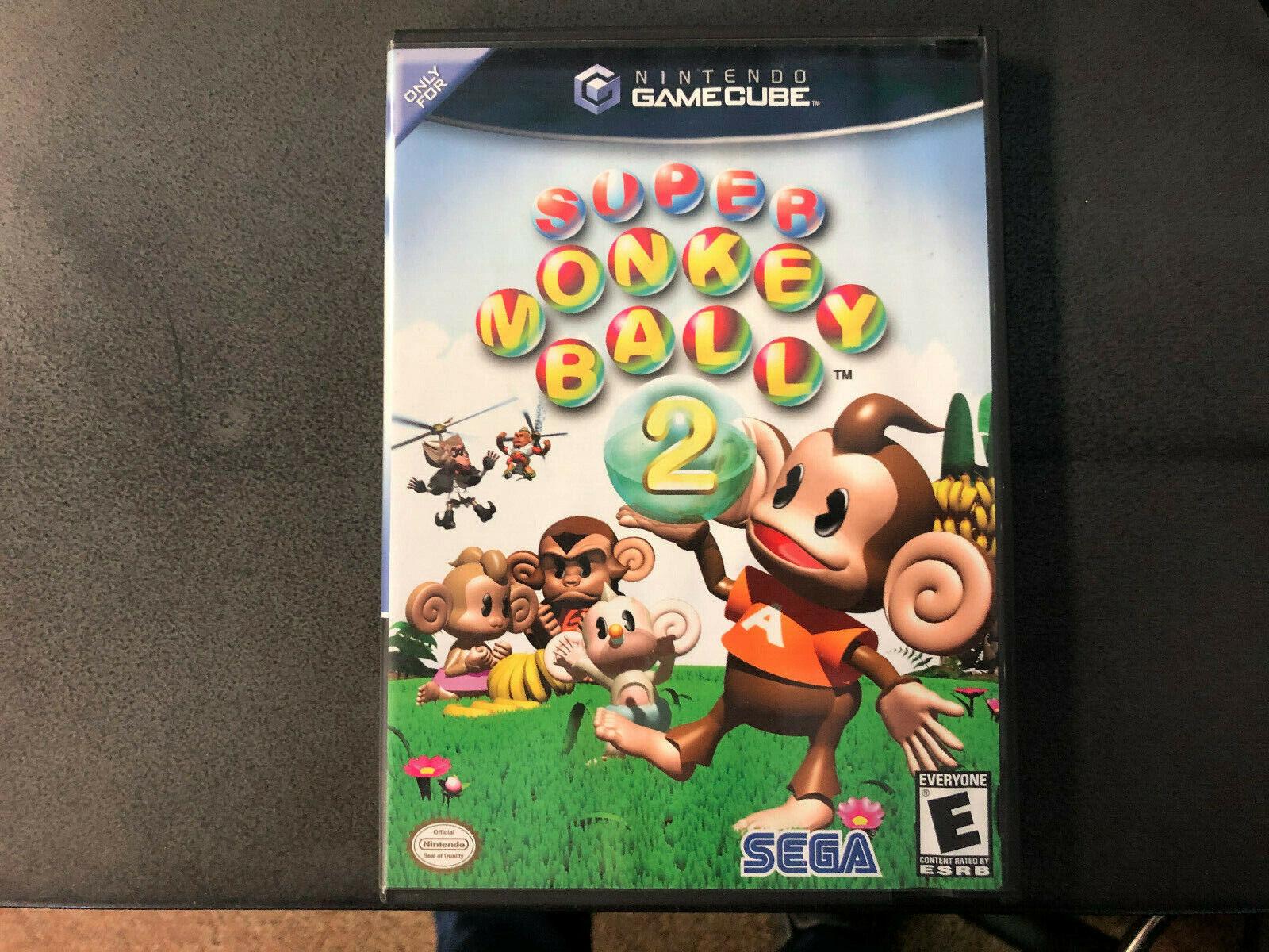 Super Monkey Ball 2 Nintendo GameCube, 2002 Black Label CIB RARE Tested  - $31.00