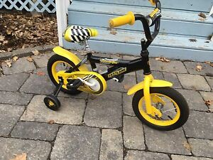 "Child Toddler 12"" bike bicycle with training wheels"