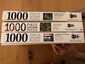 3 x Mindbogglers 1000 piece jigsaw puzzles