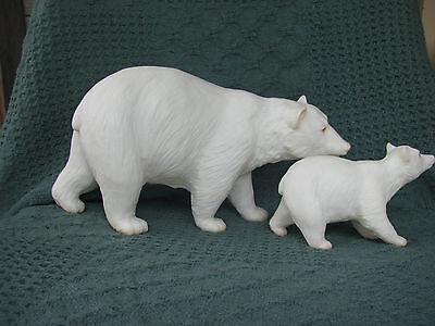 Breyer #3071 Traditional Polar Bear & Cub Set - Excellent! 1992-1995