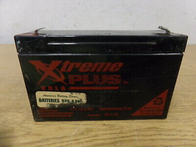 Xtreme Plus Vrla 6v 10.0ah Xp6-10 Battery Free Shipping