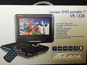 "Takara VR132B Convertible 7"" Black portable DVD/Blu-Ray player"