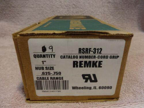 REMKE,  RSRF-312, CORD GRIP, ALUM, HUB 1IN NPT, CABLE .625-.750, BOX OF 9