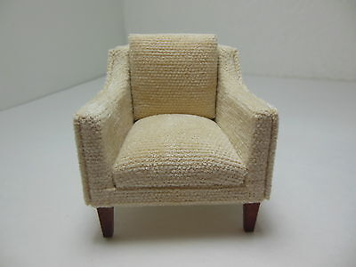 Dollhouse Miniatures Furniture 1/12: 3226-1mhve Mahogany Upholstered Chair