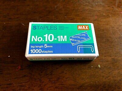 1 - 1000 Count Box Of Max No 10-1m Staples For Mini Stapler