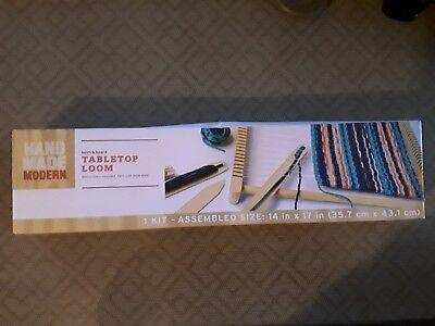 Handmade Modern Tabletop Loom Kit  Loom and Board 14 in x 17 in BRAND NEW IN - Weaving Board