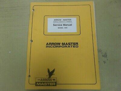 Arrow Master 1350 Breaker Mobile Hydraulic Hammer Shop Service Repair Manual