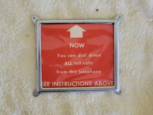 Telephone Payphone Front Sign Holder