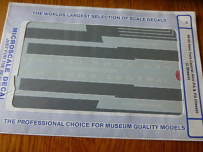 Microscale Decal O #48-92 New York Central Alco - 2 Sheet (Water Slide Decal)