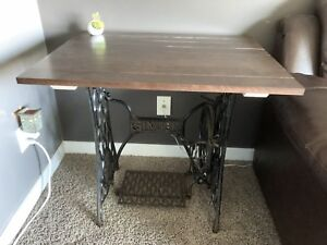 Cast iron Singer sewing table