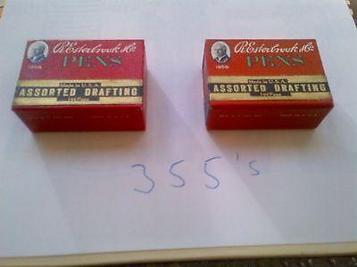 Vintage Esterbrook Size 355 Pen Nibs 2 boxes (Gross)