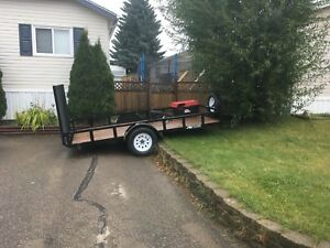 "12' long 77""wide between fenders utility trailer 3500#axel."