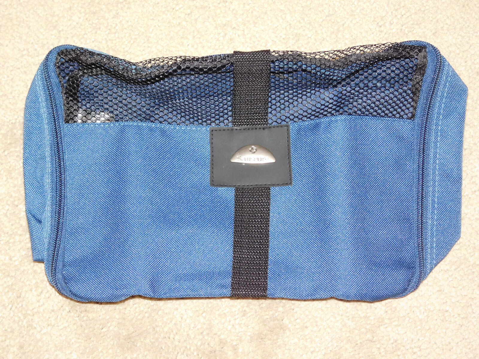 SAMSONITE NAVY BLUE CANVAS TOILETRY / TRAVEL BAG