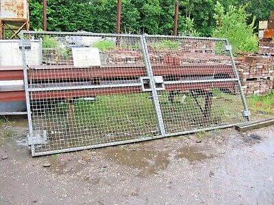 1 PAIR OF STEEL GATES APPROX 12FT WIDE, IDEAL YARD - COMPOUND  GALVANISED for sale  Preston