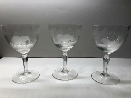 Etched Wine Glasses (3)