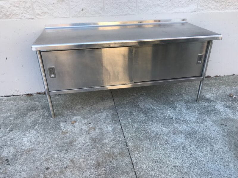Used all welded heavy duty restaurant cabinet.