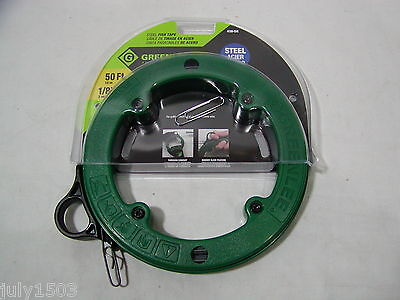 1 New Greenlee 438-5h Steel Fish Tape 50 Foot 18