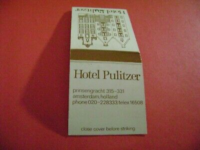 "1- Match Book, ""THE HOTEL PULITZER"", Amsterdam, Holland, complete."