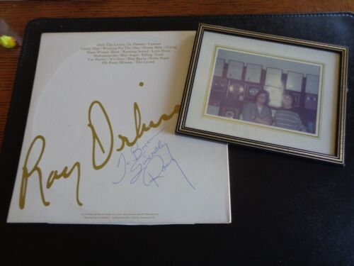 ROY ORBISON AUTOGRAPH /SIGNED LP AND VINTAGE PHOTOGRAPH - BRIAN JONES COLLECTION