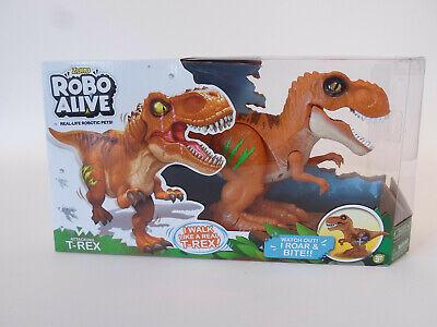 Robo Alive Attacking T-Rex Dinosaur - Walks & Roars - Orange