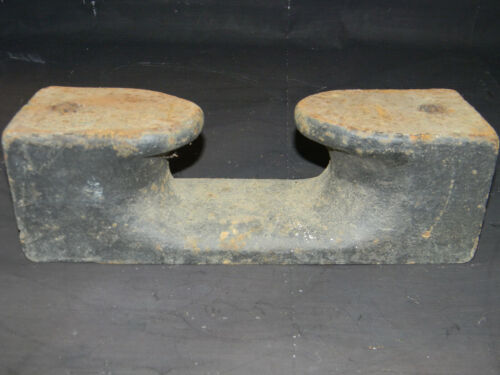 "Large antique dock cleat choc 13"" long 35 Lbs Nautical Ship Boat"