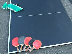 Ping Pong Table Top with 5 paddles and net