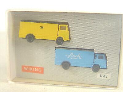 Zwei Pkw und ein Kastenwagen Maßstab 1:160 in OVP 9150220 Wiking Spur N