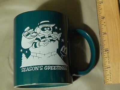 """McDonald's ~Hamburglar~ """"Season's Greetings"""" (Ceramic) MUG_CUP - Ltd Xmas Promo"""