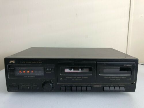 JVC TD-W118 Dual Cassette Tape Deck Player Recorder Dubbing HiFi Stereo Dolby