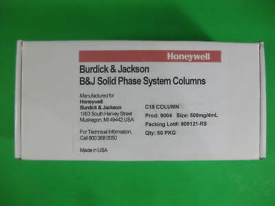 Honeywell Burdick Jackson Silica Column 500mg4ml -- 9004 -- Pack Of 50 New