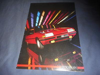 1986 Citroen BX French Market Brochure Catalog Prospekt