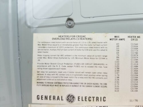 NEW General Electric ?? CR306X190B ?? Enclosure NOT SURE IF PART NUM IS CORRECT