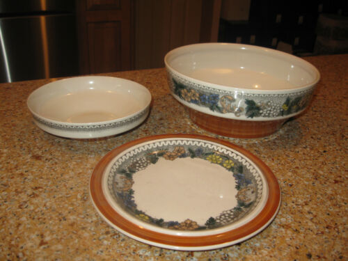 Goebel Country Burgund Set of Three Dinnerware - Made in West Germany