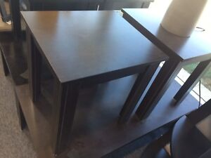 Coffee table/end tables x2
