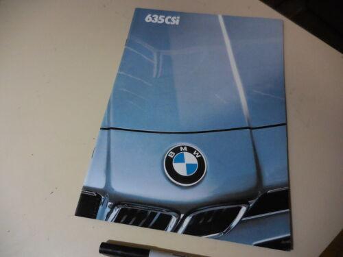 BMW  635 CSi Japanese Brochure 1985/01 E24