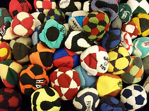 Set of 3 Grab Bag Hacky Sacks- Sand Filled