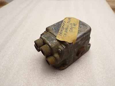 Vintage Fairbanks Magneto Cap Cover 4 Cylinder Sp Radio Kolar Shield Cap