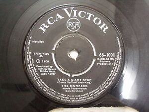 THE-MONKEES-66-1001-BLACK-RARE-SINGLE-7-45-RPM-INDIA-INDIAN-VG
